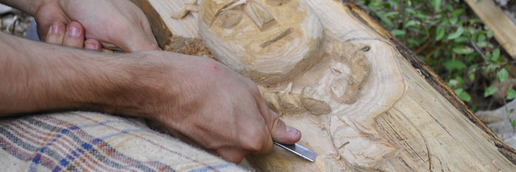 Randa Ardesca Archéosite d'Ardèche - Sculpture sur bois