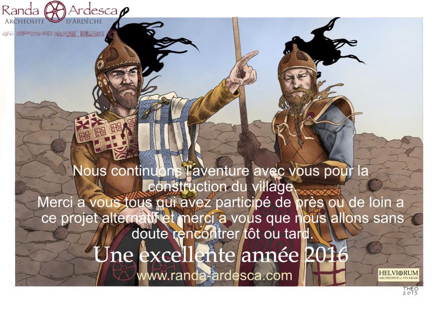 Randa Ardesca Archéosite d'Ardèche - Bonne année 2016 !