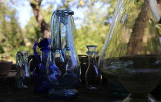 Randa Ardesca Archéosite d'Ardèche - Lot de cruches en verre soufflé